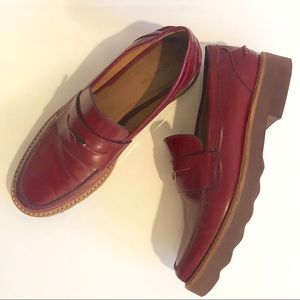 COACH red Ida penny loafers, SIZE 7.5